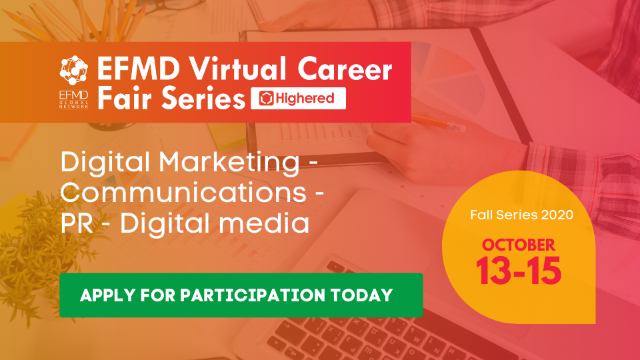 EFMD Virtual Career Fair - Day 3 : Digital Marketing – Communications – PR – Digital Media