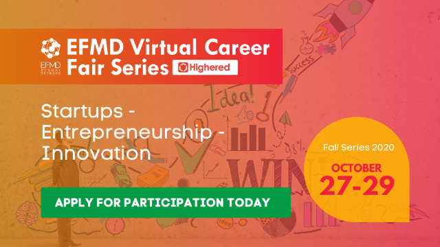 EFMD Virtual Career Fair - Day 3 : Startups – Entrepreneurship – Innovation