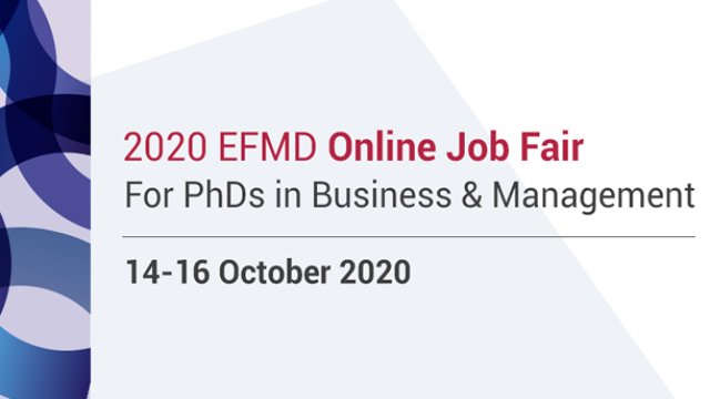 PhDs - Business and Management : EFMD Job Fair