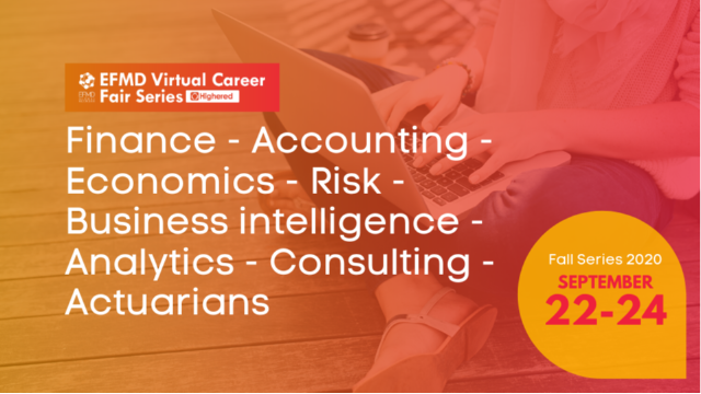 EFMD Virtual Career Fair - Day 2 : Finance – Accounting – Economics – Risk