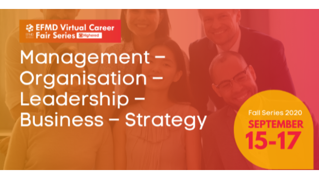 EFMD Virtual Career Fair - Day 2 : Management - Organisation - Leadership - Business - Strategy