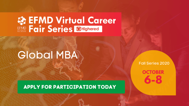 EFMD Virtual Career Fair - Day 3 : Global MBA